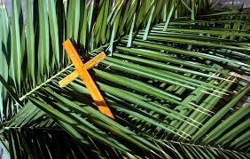 palm Sunday and cross