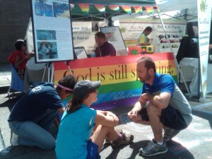matthew banna at pride booth